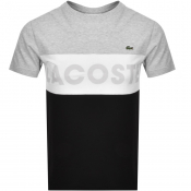 Lacoste Sport Colour Block Logo T Shirt Grey